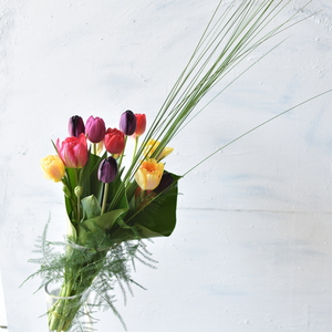 来週のレッスンは「チューリップの花束です」