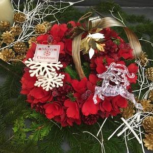 11/27,28 水・木曜レッスン レッドクリスマスリース 講師 菊井百合子