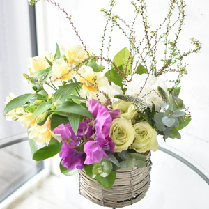 2019.2/6.7.9 「初活け 花の表情に注目」